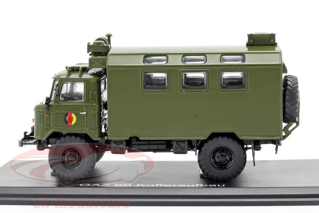 GAZ 66 Kofferaufbau NVA caminhão veículo militar escuro oliva 1:43 Premium ClassiXXs