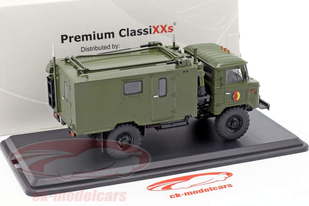 GAZ 66 Funkkoffer R-142 NVA lastbil militært køretøj mørk oliven 1:43 Premium ClassiXXs