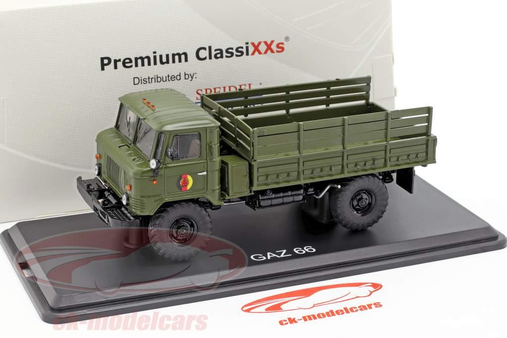 GAZ 66 piattaforma camion NVA veicolo militare scuro oliva 1:43 Premium ClassiXXs