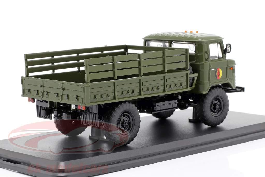 GAZ 66 Pritsche LKW NVA Militärfahrzeug dunkeloliv 1:43 Premium ClassiXXs