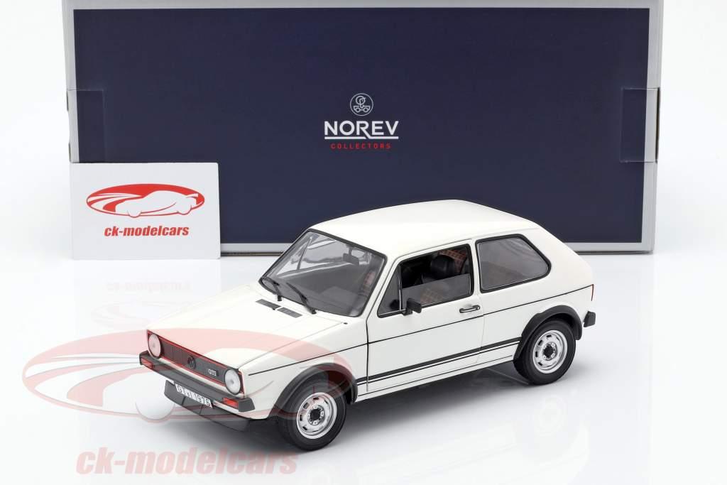 Volkswagen VW Golf I GTi anno di costruzione 1976 bianco 1:18 Norev