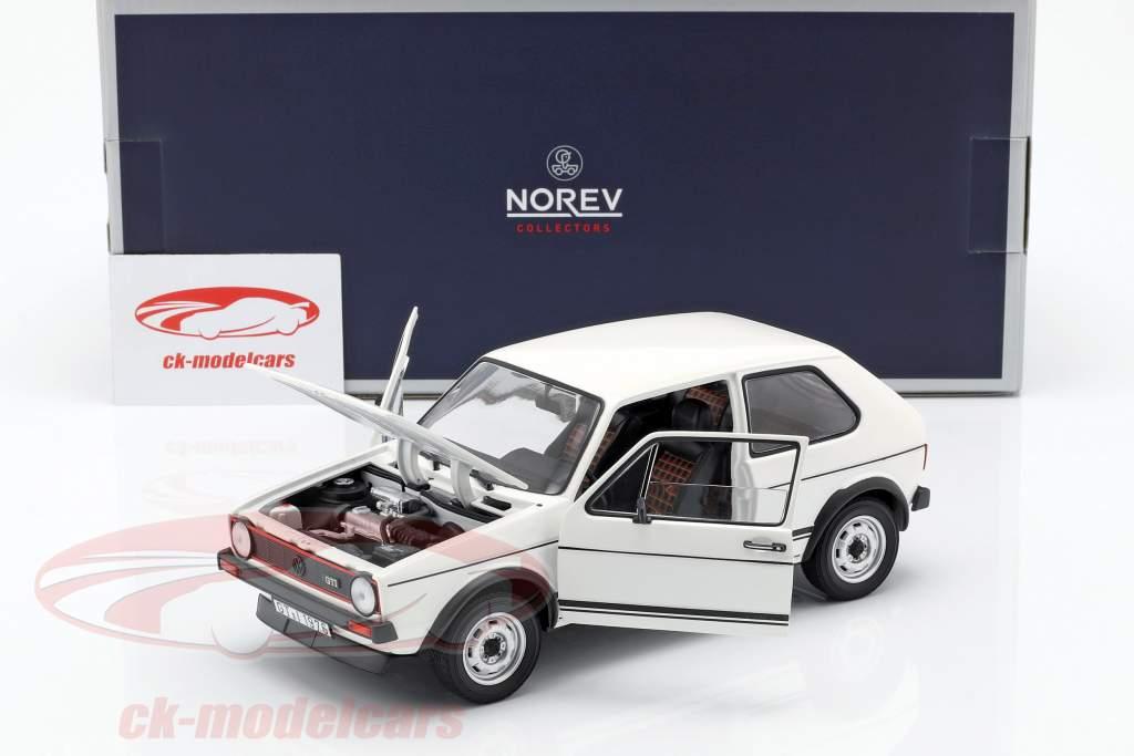 Volkswagen VW Golf I GTi año de construcción 1976 blanco 1:18 Norev