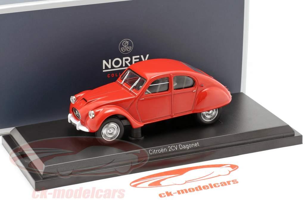 Citroen 2CV Dagonet year 1956 red 1:43 Norev