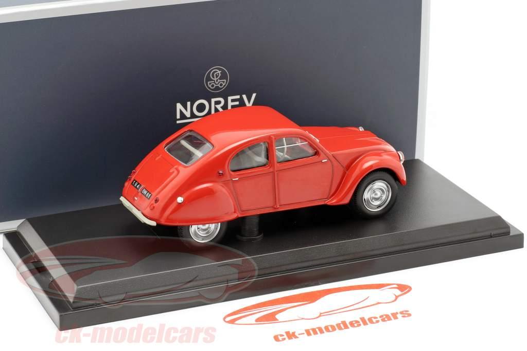Citroen 2CV Dagonet année de construction 1956 rouge 1:43 Norev