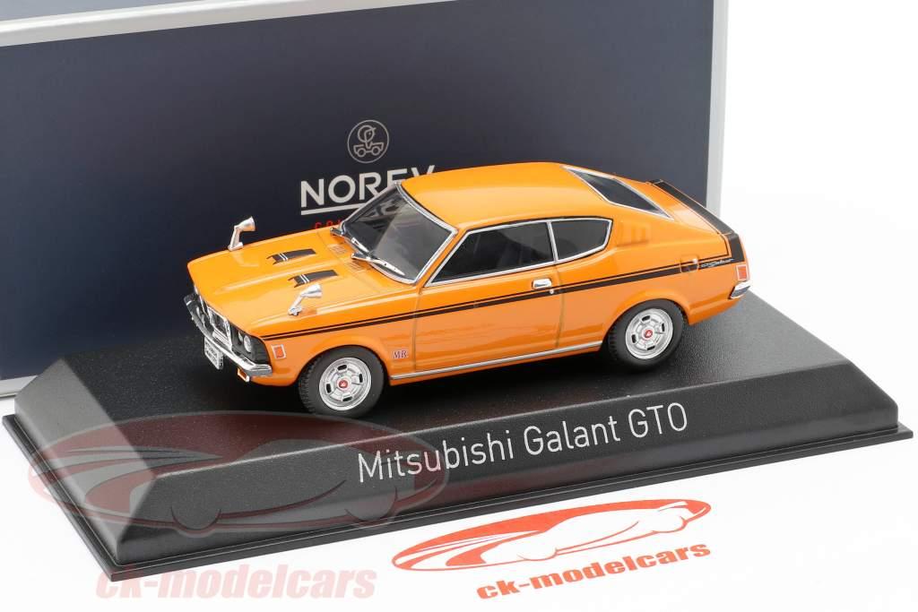 Mitsubishi Galant GTO costruito nel 1970 arancione 1:43 Norev