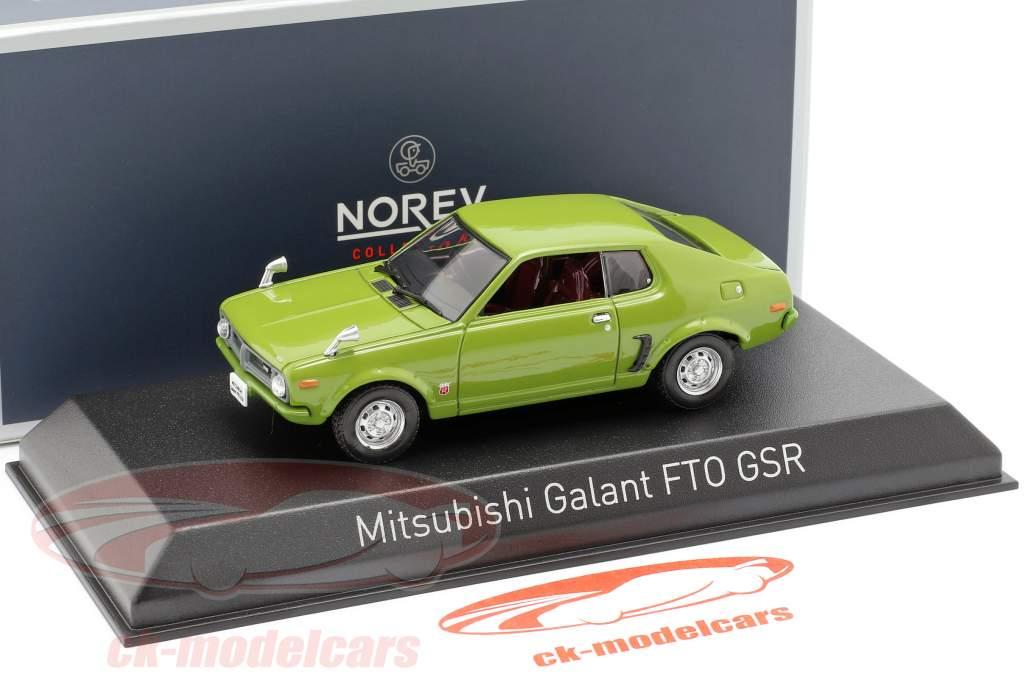 Mitsubishi Galant FTO GSR ano de construção 1973 verde 1:43 Norev