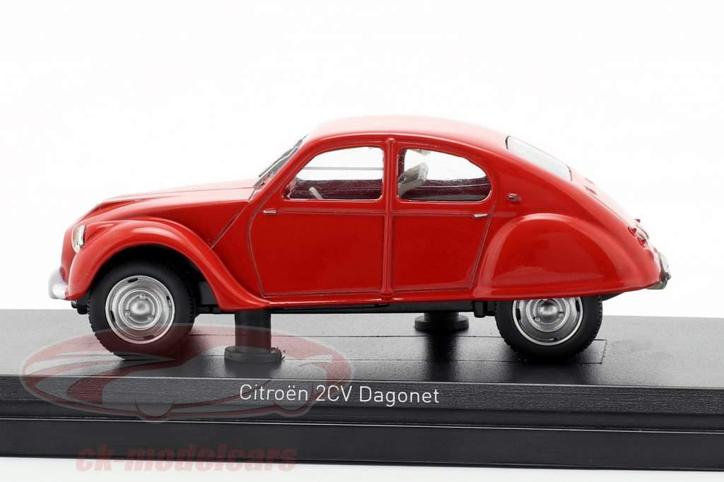 Citroen 2CV Dagonet anno di costruzione 1956 rosso 1:43 Norev