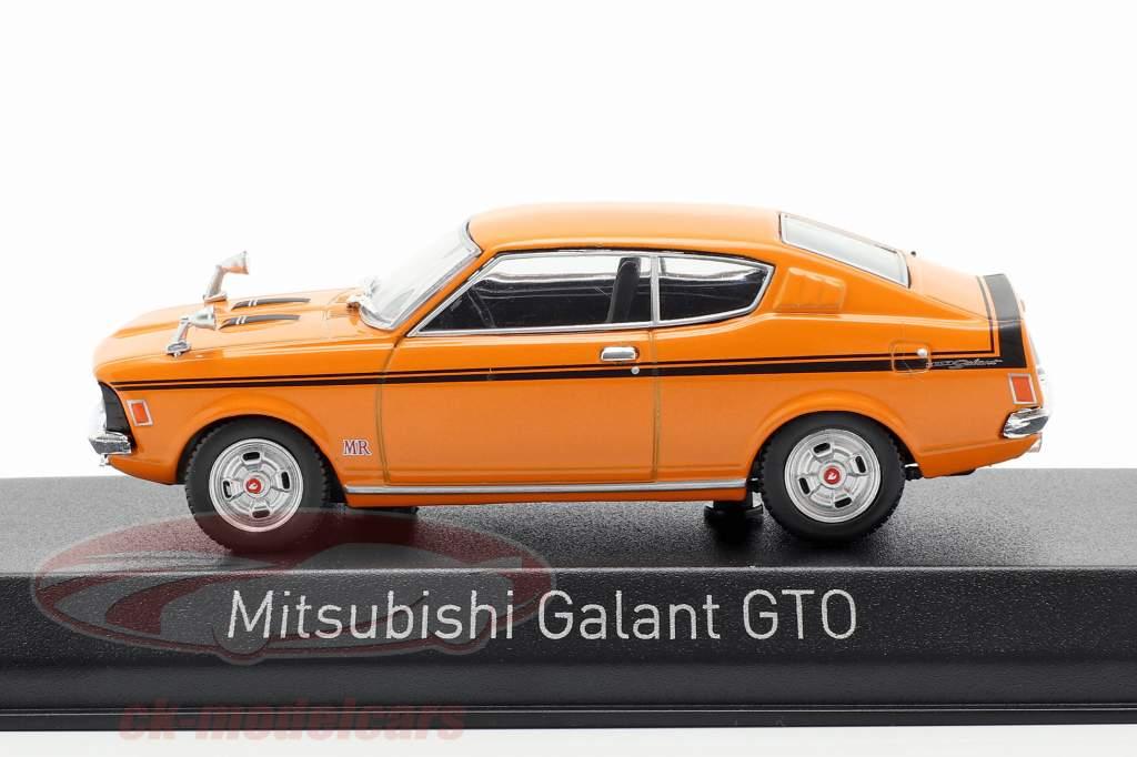 Mitsubishi Galant GTO bouwjaar 1970 oranje 1:43 Norev