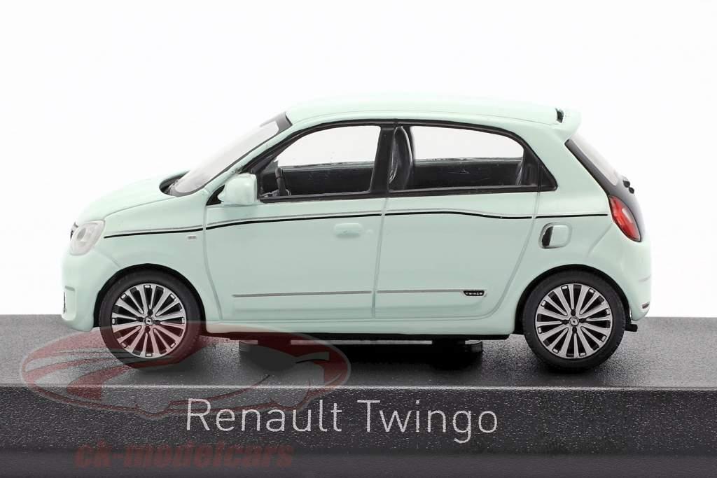 Renault Twingo ano de construção 2019 pistache verde 1:43 Norev