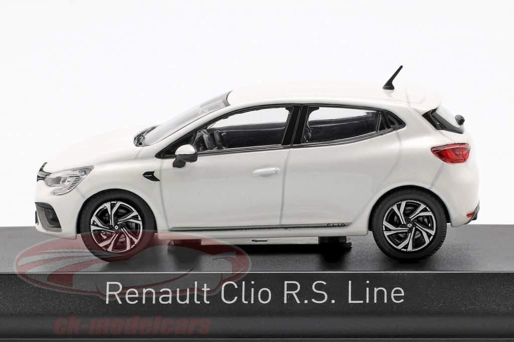 Renault Clio R.S. Line Baujahr 2019 perlweiß 1:43 Norev