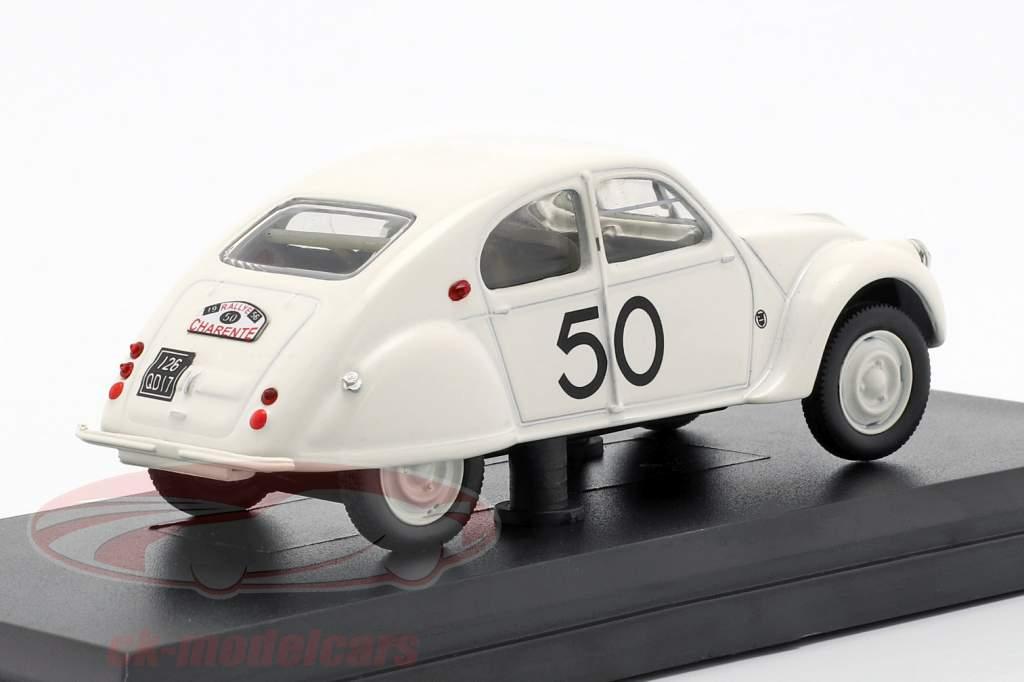 Citroen 2CV Dagonet #50 Rallye des Charentes 1956 bianco 1:43 Norev