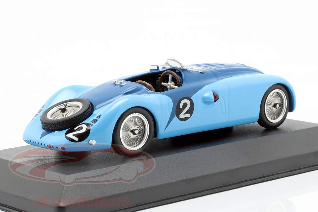 Bugatti Type 57G #2 Wimille, Benoist vencedor 24h LeMans 1937 1:43 Ixo