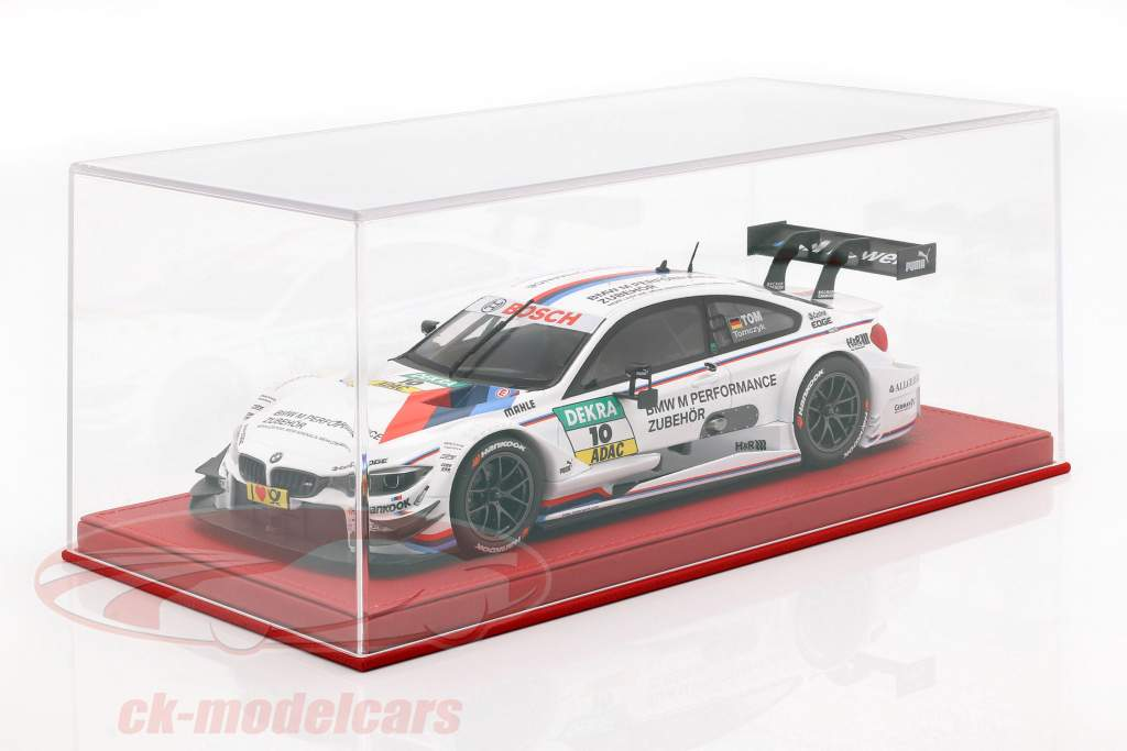 Hochwertige Acryl Vitrine for Model Cars in the Scale 1:18 red BBR