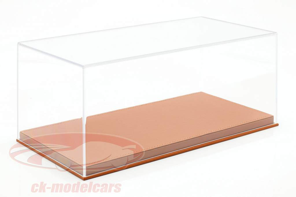 Calidad alta Acrílico Escaparate para Coches Modelo en el Escala 1:18 de color marrón claro BBR