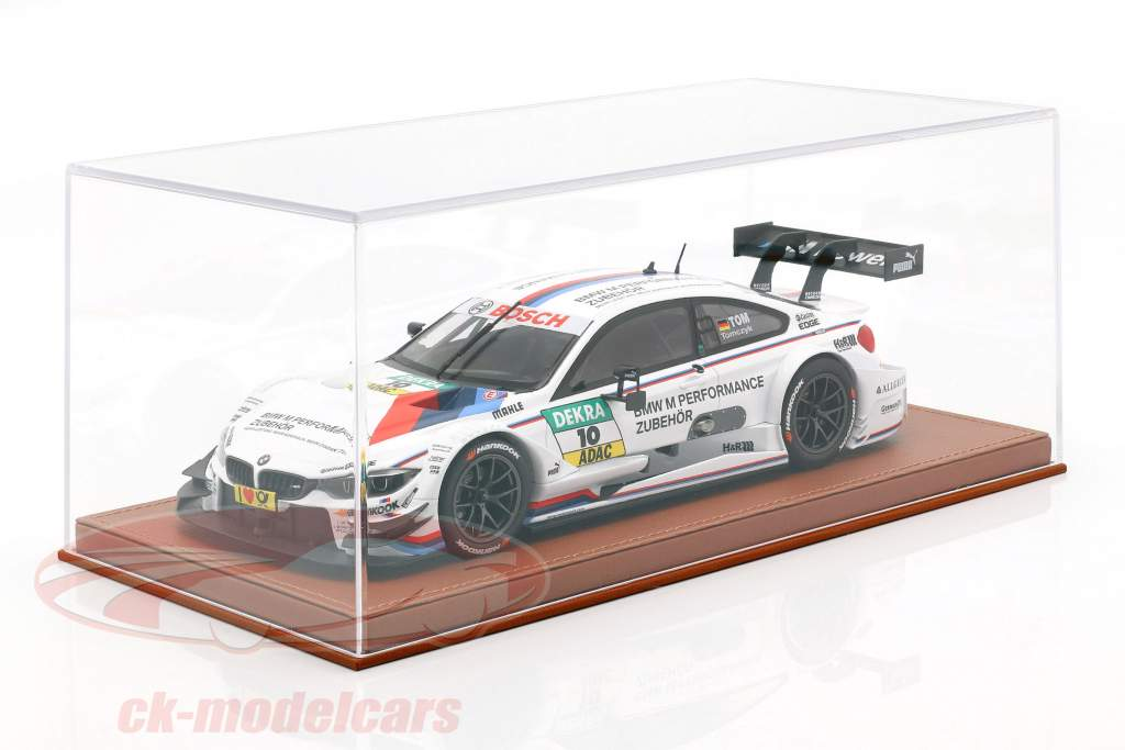 High quality Acrylic Showcase for Model Cars in the Scale 1:18 light-brown BBR