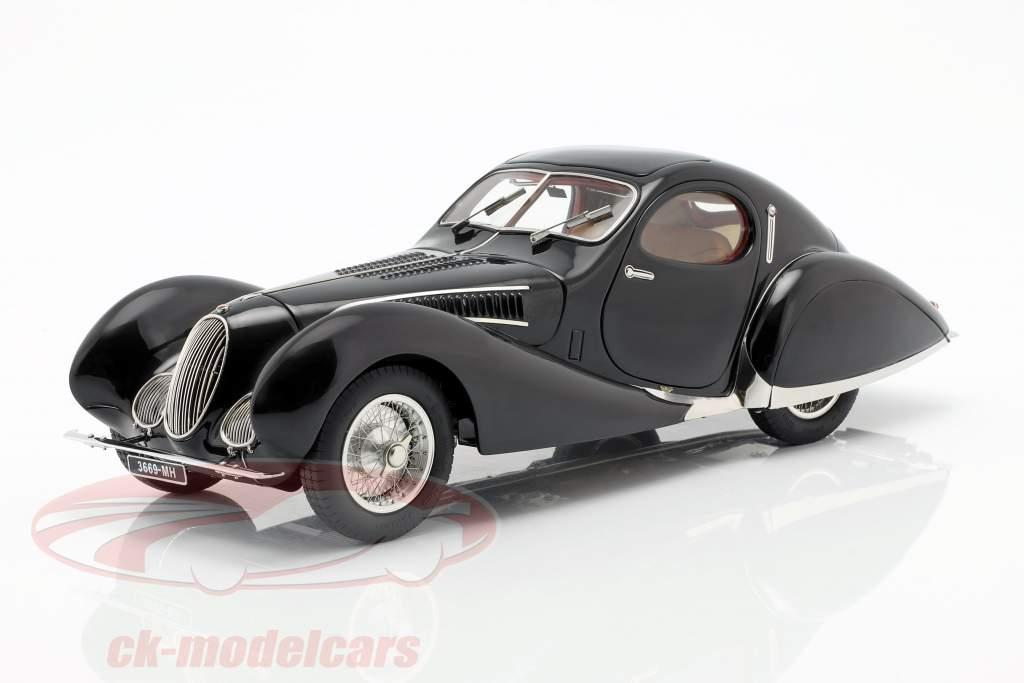 Talbot Lago T150 C-SS Teardrop année de construction 1937-1939 avec figure et vitrine 1:18 CMC