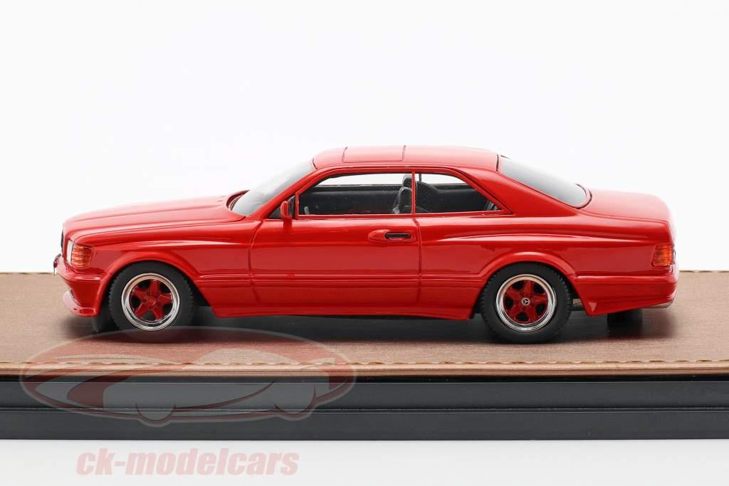 Mercedes-Benz AMG C126 6.0 Wide Body Opførselsår 1984-1985 rød 1:43 GLM