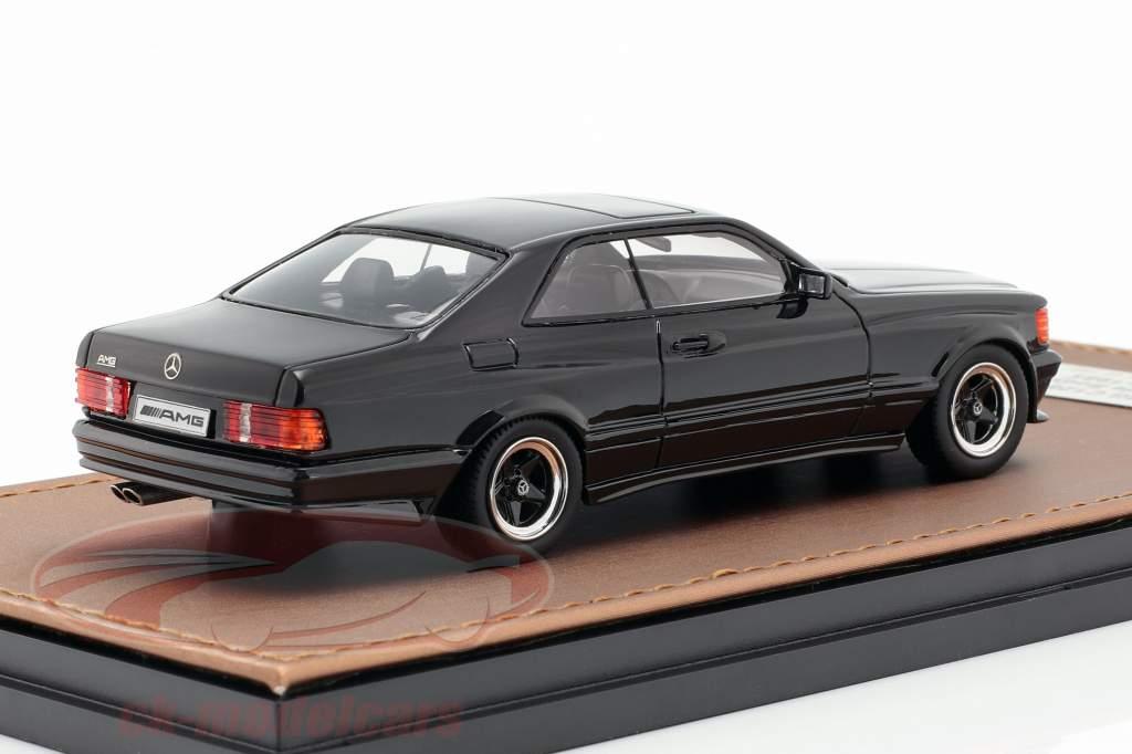 Mercedes-Benz AMG C126 6.0 Wide Body ano de construção 1984-1985 preto 1:43 GLM