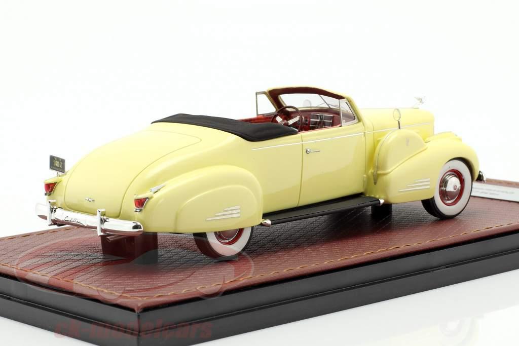 Cadillac V16 conversível coupe Open Top ano de construção 1938 creme amarelo 1:43 GLM