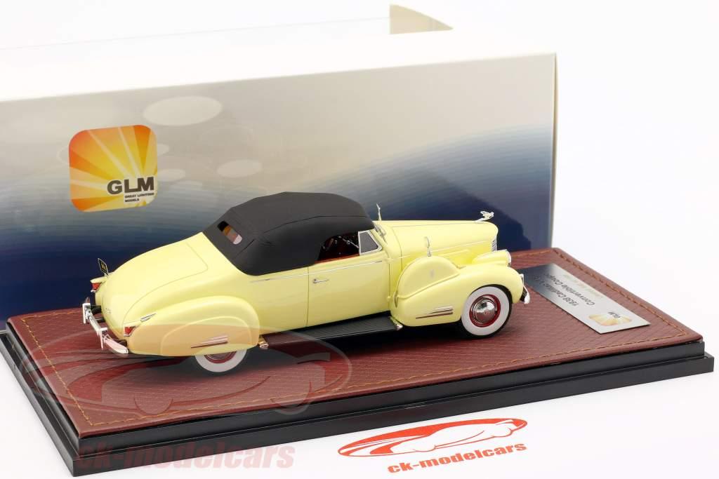 Cadillac V16 convertible coupé Closed Top année de construction 1938 crème jaune 1:43 GLM