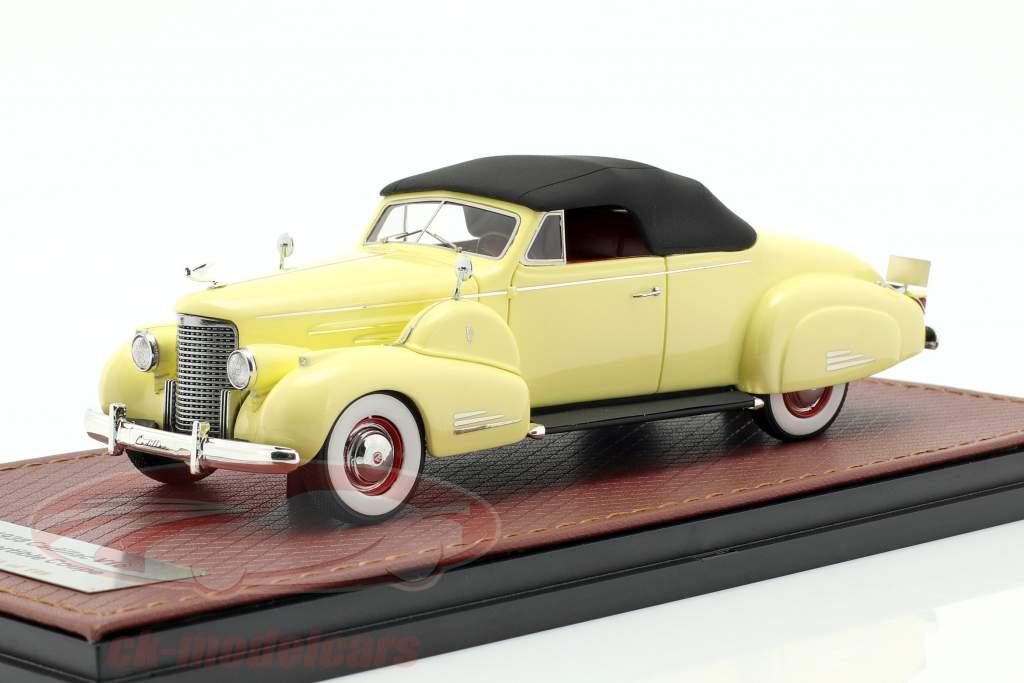 Cadillac V16 convertibile coupe Closed Top anno di costruzione 1938 crema giallo 1:43 GLM