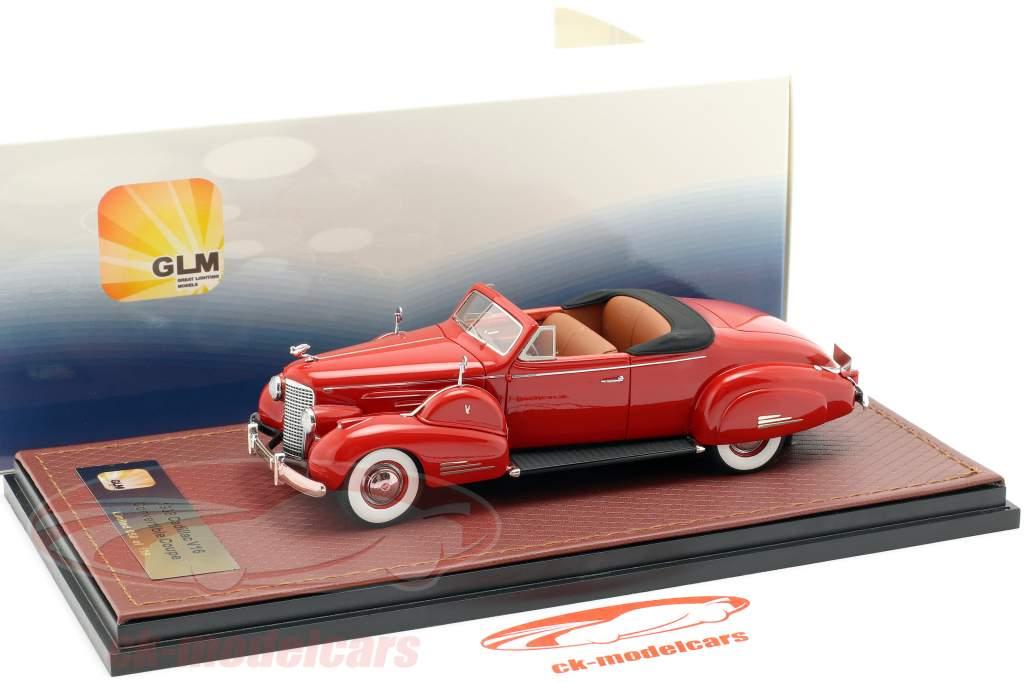 Cadillac V16 converteerbaar coupe Open Top Bouwjaar 1938 rood 1:43 GLM