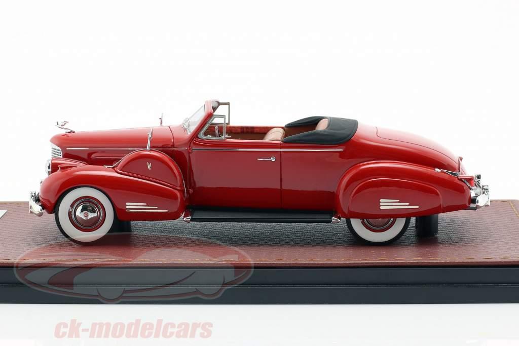 Cadillac V16 conversível coupe Open Top ano de construção 1938 vermelho 1:43 GLM