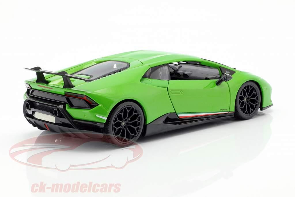 Lamborghini Huracan Performante année de construction 2017 vert métallique 1:18 Maisto