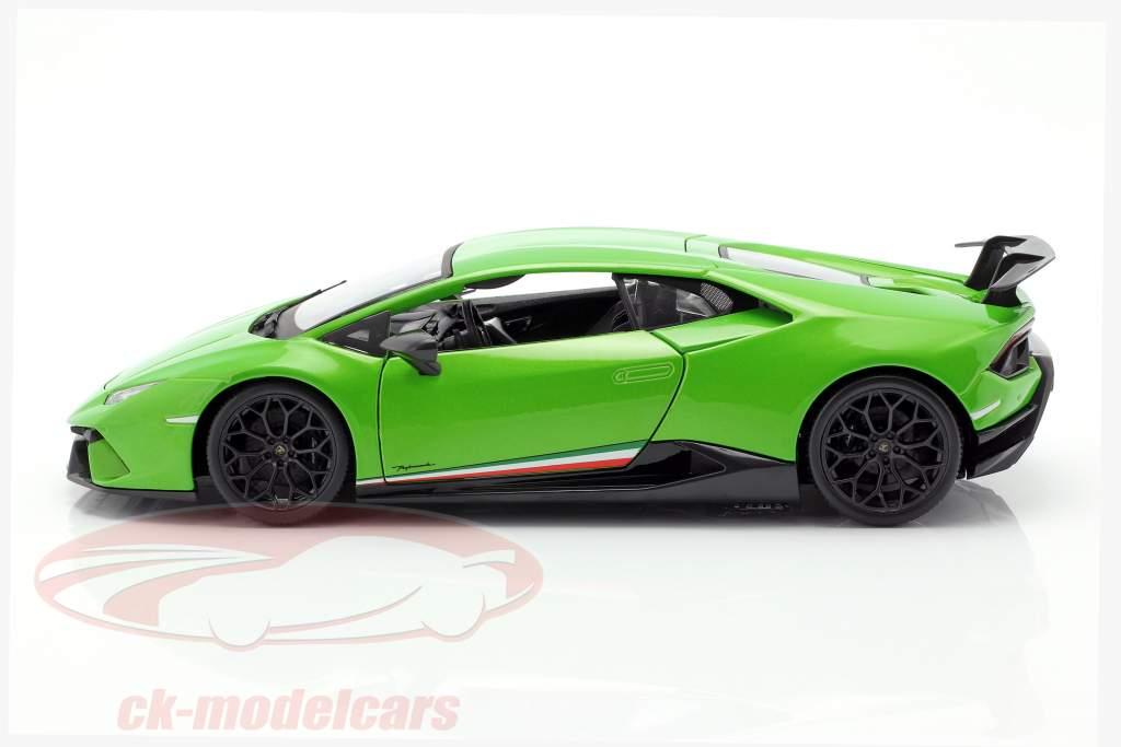Lamborghini Huracan Performante ano de construção 2017 verde metálico 1:18 Maisto