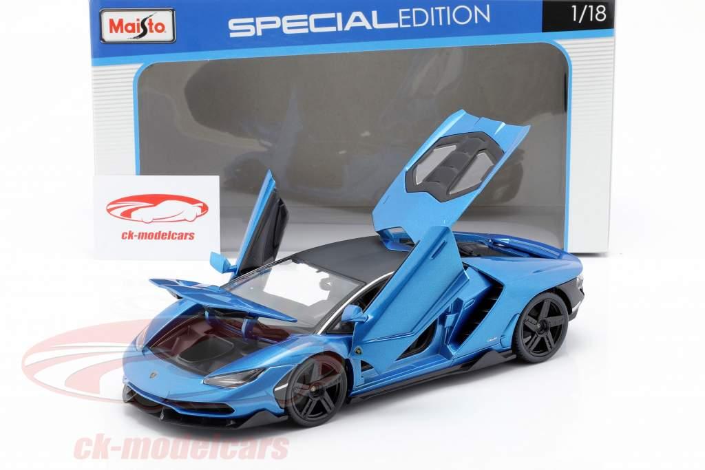 Lamborghini Centenario LP770-4 anno di costruzione 2016 blu metallico 1:18 Maisto