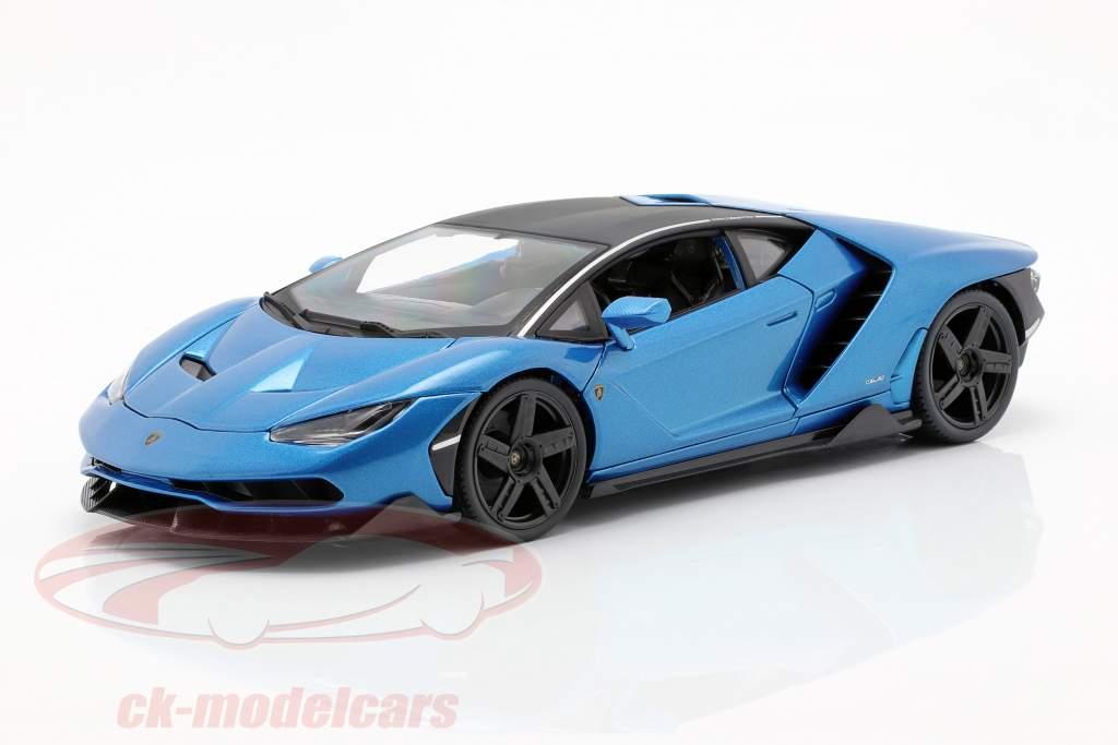 Lamborghini Centenario LP770-4 année de construction 2016 bleu métallique 1:18 Maisto