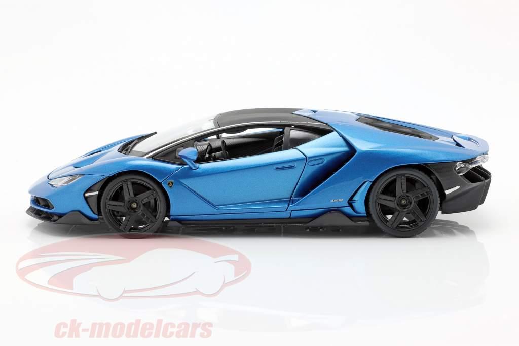 Lamborghini Centenario LP770-4 ano de construção 2016 azul metálico 1:18 Maisto