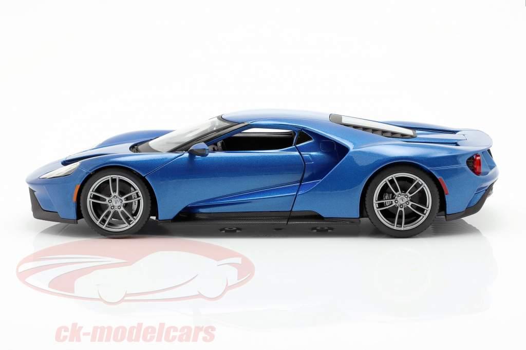 Ford GT year 2017 blue metallic 1:18 Maisto
