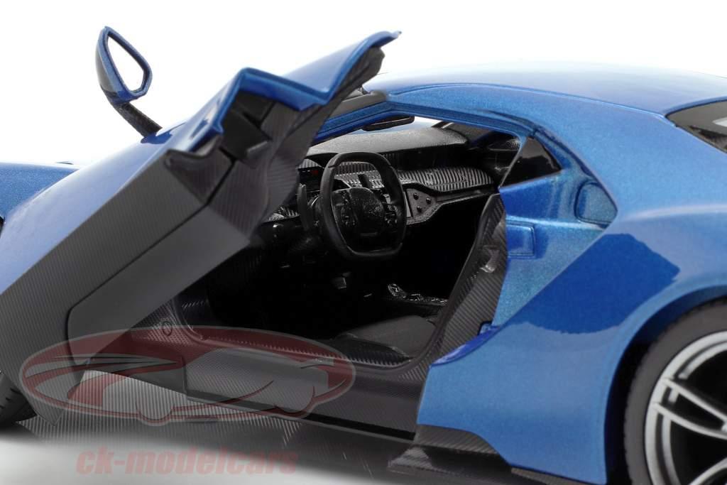 Ford GT anno di costruzione 2017 blu metallico 1:18 Maisto