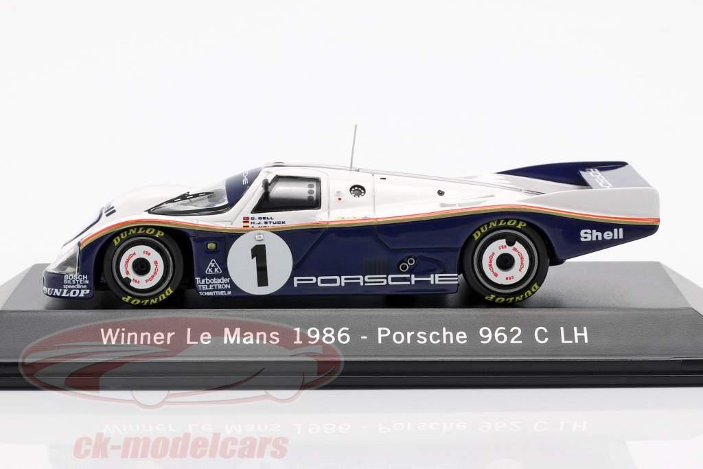Porsche 962 C LH #1 Vincitore 24 LeMans 1986 Bell / Stuck / Holbert 1:43 Spark