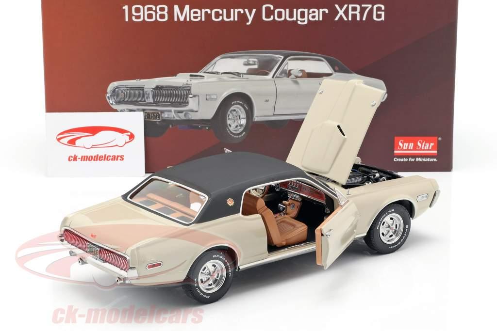 Mercury Cougar XR7G year 1968 beige / black 1:18 SunStar