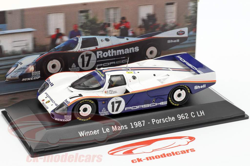 Porsche 962 C LH #17 Vencedor 24h LeMans 1987 Stuck, Bell, Holbert 1:43 Spark
