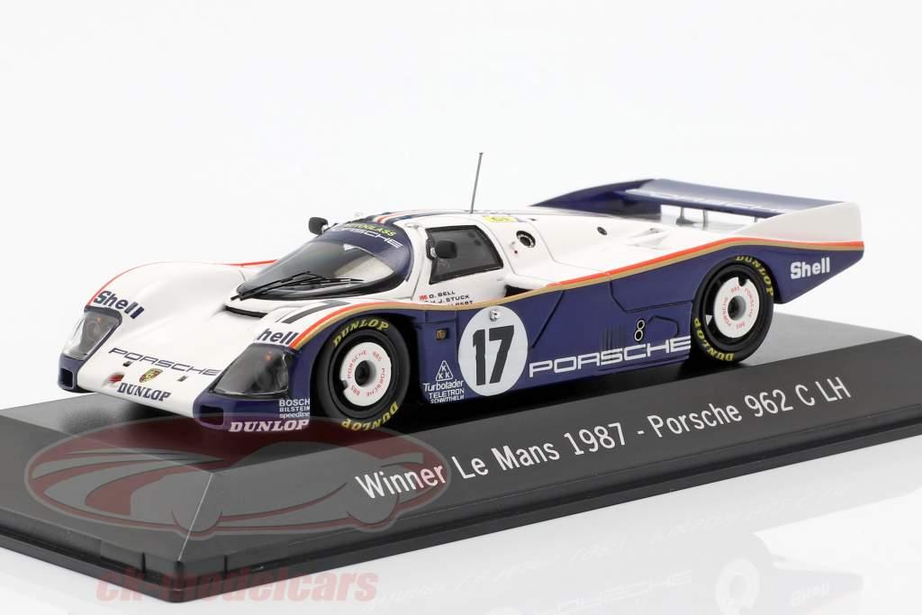 Porsche 962 C LH #17 Gagnant 24h LeMans 1987 Stuck, Bell, Holbert 1:43 Spark