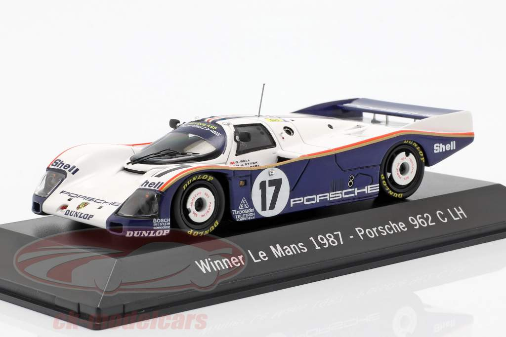 Porsche 962 C LH #17 Ganador 24h LeMans 1987 Stuck, Bell, Holbert 1:43 Spark