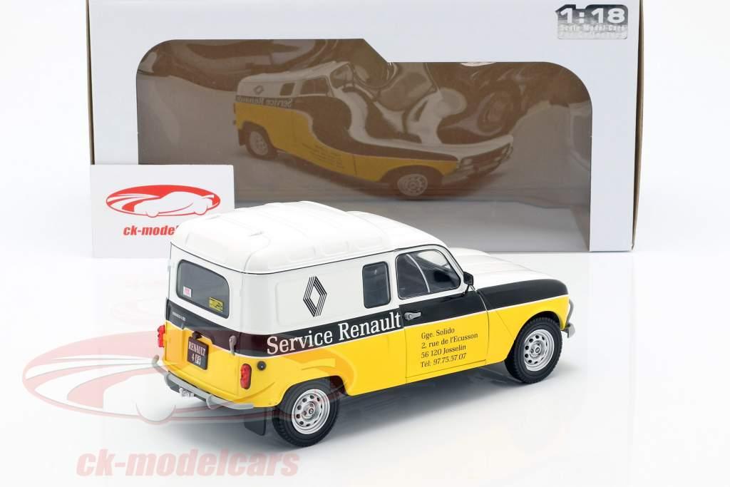 Renault 4LF4 service Renault 1975 gul / hvid / sort 1:18 Solido