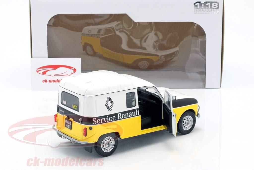 Renault 4LF4 servizio Renault 1975 giallo / bianco / nero 1:18 Solido