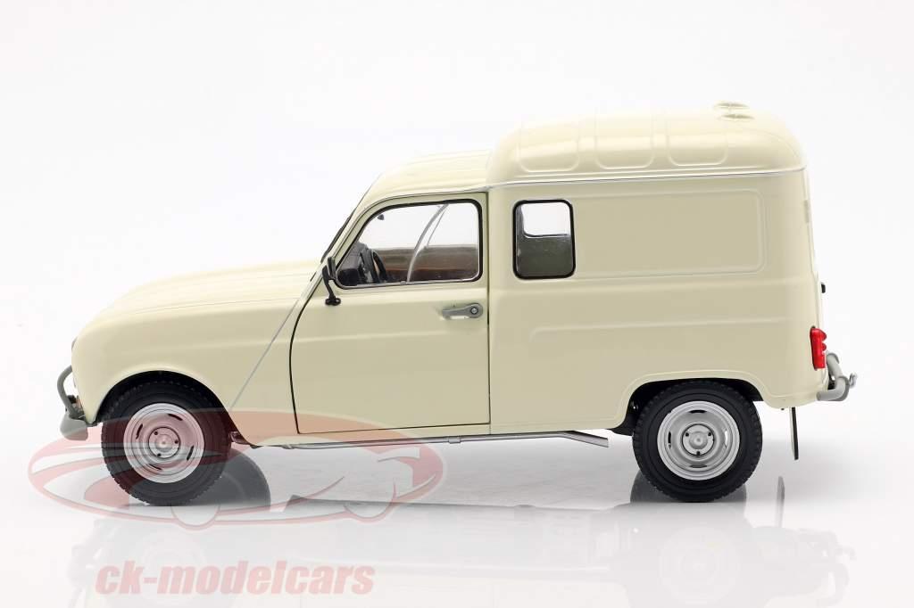 Renault 4LF4 year 1975 cream white 1:18 Solido