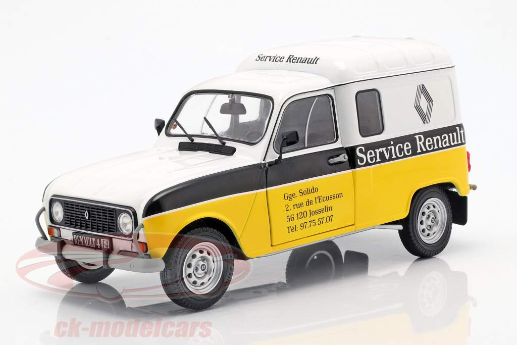 Renault 4LF4 servicio Renault 1975 amarillo / blanco / negro 1:18 Solido