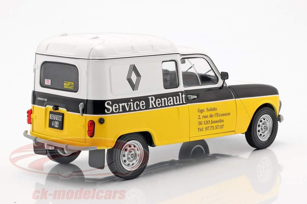 Renault 4LF4 serviço Renault 1975 amarelo / branco / preto 1:18 Solido