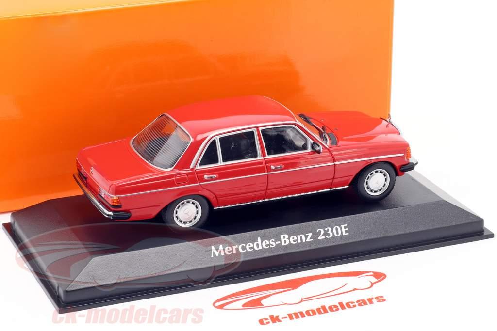 Mercedes-Benz 230E (W123) Opførselsår 1982 rød 1:43 Minichamps