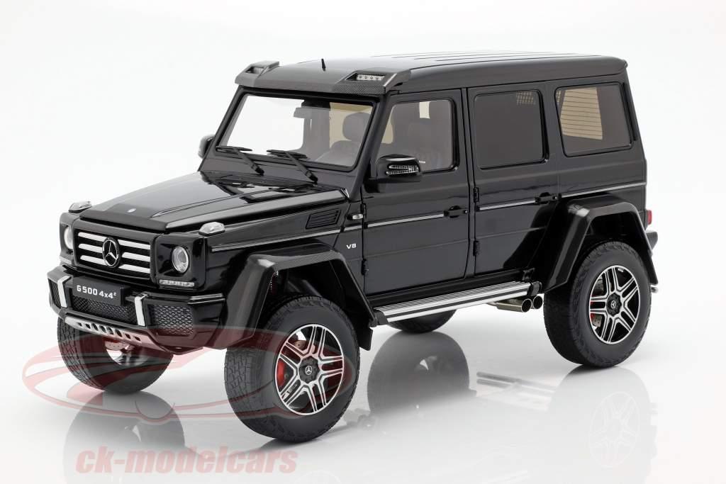 Mercedes-Benz G-Klasse 4x4² obsidian zwart 1:18 Almost Real
