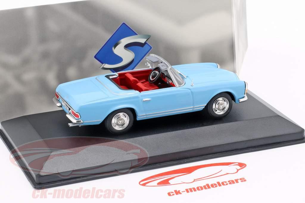 Mercedes-Benz 230SL Roadster (W113) year 1963 light blue 1:43 Solido