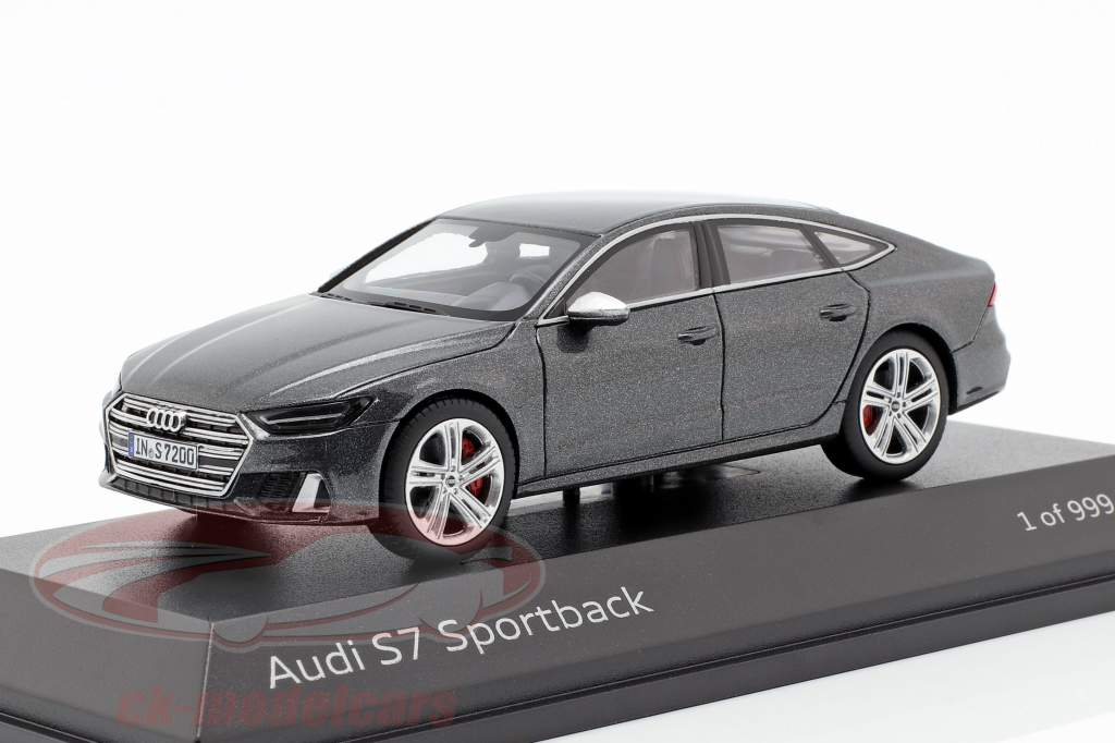 Audi S7 Sportback daytona grå 1:43 Jaditoys