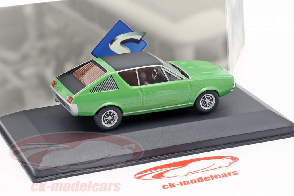 Renault 17 anno di costruzione 1974 verde metallico / nero 1:43 Solido