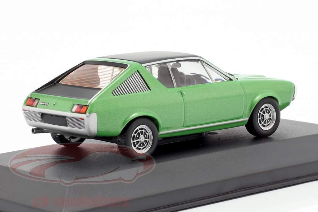 Renault 17 año de construcción 1974 verde metálico / negro 1:43 Solido